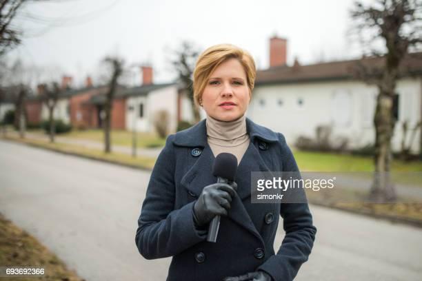 Portrait of newsreader
