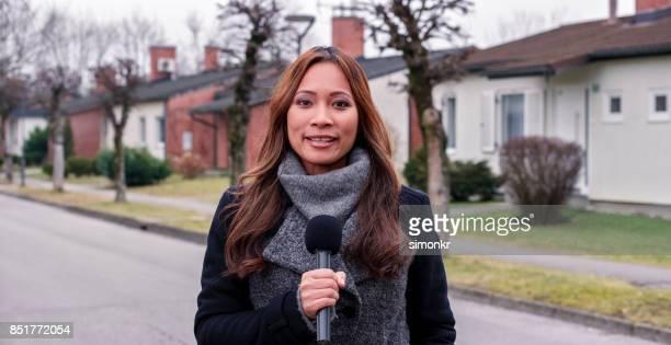 Portret van nieuwslezer