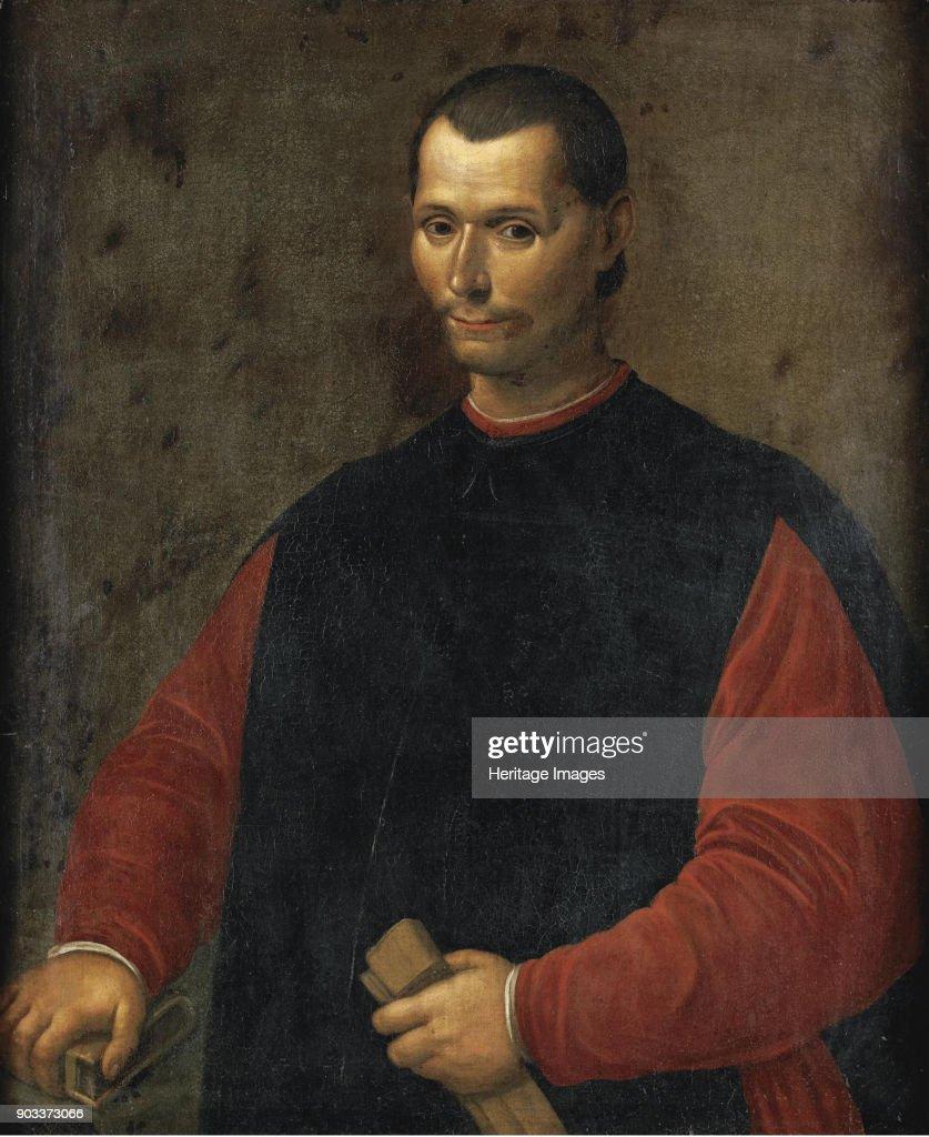 Portrait of Niccolo Machiavelli . Private Collection. Foto di attualità -  Getty Images