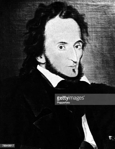 A portrait of Niccolo Paganini the Italian violinist