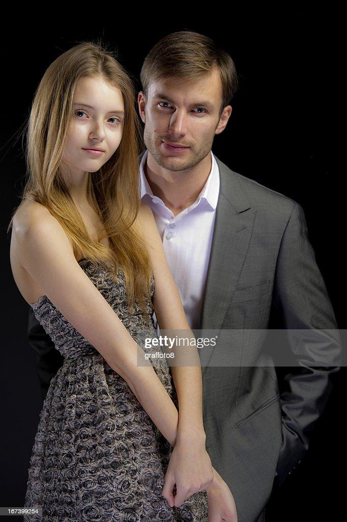 portrait of nice couple : Stock Photo