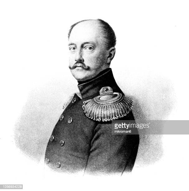 portrait of nicholas i, emperor of russia, king of poland and grand duke of finland. - duke stockfoto's en -beelden