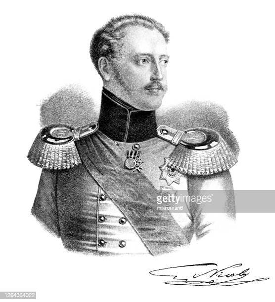 portrait of nicholas i, emperor of russia, king of poland and grand duke of finland. - czar stock pictures, royalty-free photos & images