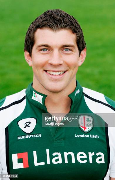 A portrait of Nick Kennedy of London Irish pictured during the photocall held at Sunbury on August 23 2007 in Sunbury England