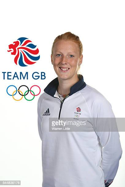 This image has been digitally altered logo added to background A portrait of Nicola White a member of the Great Britain Olympic team during the Team...