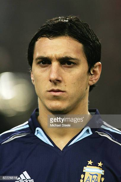 A portrait of Nicolas Burdisso of Argentina prior to the International Friendly match between Germany and Argentina at the LTU Arena on February 9...