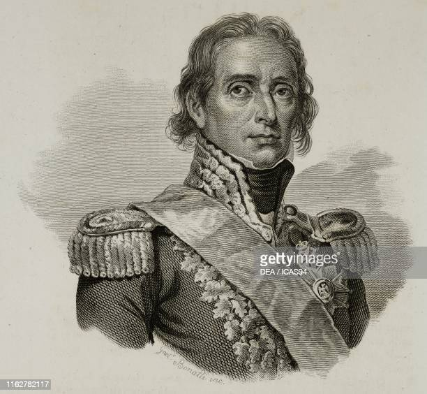 Portrait of Nicolas Jean-de-Dieu Soult , French general, engraving by Gaetano Bonatti, from Vite dei primarj marescialli e generali che ebbero parte...