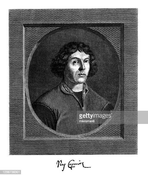 portrait of nicolaus copernicus (1473-1543), polish mathematician and astronomer - diplomacy stock pictures, royalty-free photos & images