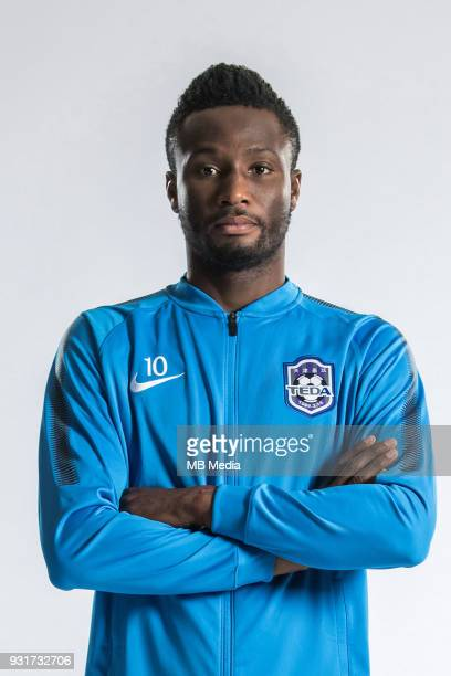 **EXCLUSIVE** Portrait of Nigerian soccer player John Obi Mikel of Tianjin TEDA FC for the 2018 Chinese Football Association Super League in Tianjin...