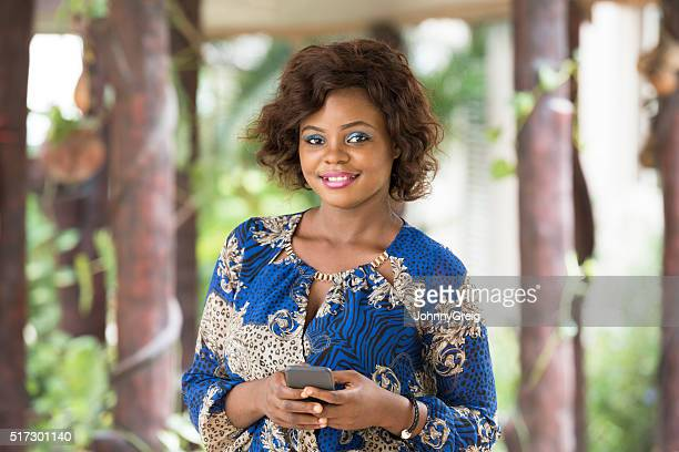 Portrait of Nigerian woman smiling towards camera