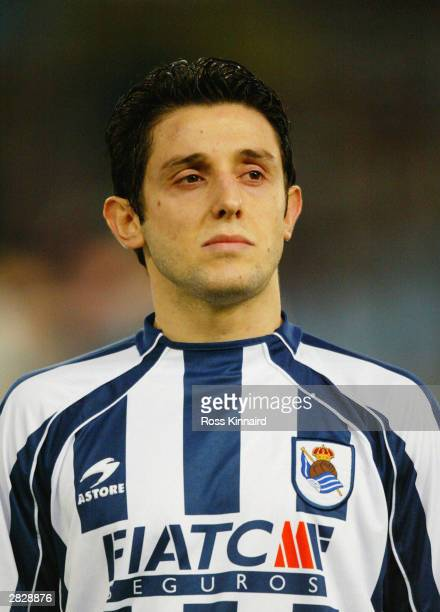 A portrait of Nihat Kahveci of Real Sociedad prior to the UEFA Champions League Group D match between Real Sociedad and Galatasaray on December 10...