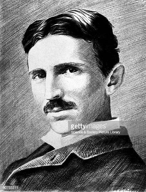 Portrait of Nikola Tesla aged 34 circa 1890 A SerbianAmerican physicist and electrical engineer he was born in Croatia to Serbian parents Tesla was...