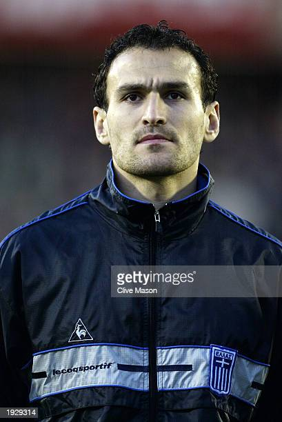 Portrait of Nikos Dabizas of Greece taken before the European Championships 2004 Group 6 Qualifying match between Northern Ireland and Greece held on...
