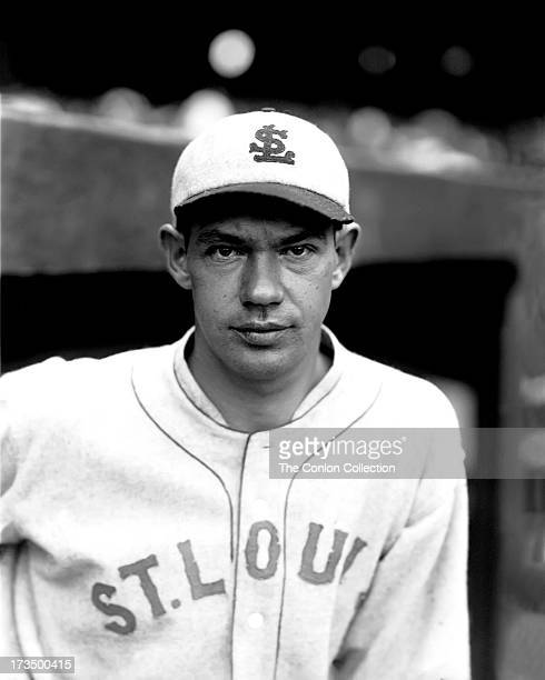 A portrait of Noble W Ballou of the St Louis Browns in 1927