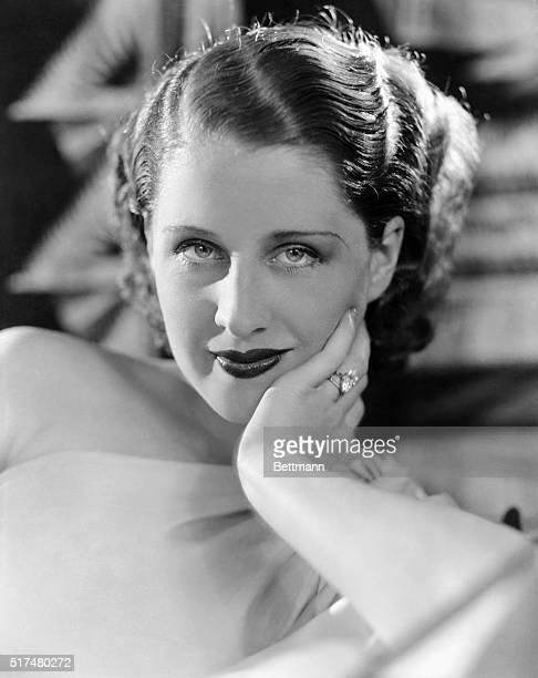 Portrait of Norma Shearer glamorous American actress Undated photograph