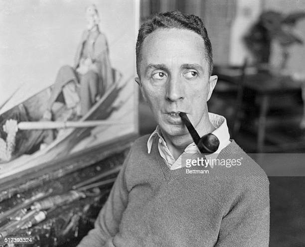 Portrait of Norman Rockwell Smoking His Pipe