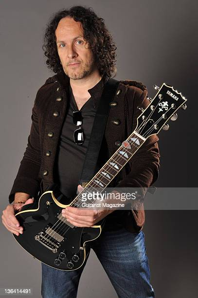 Portrait of Northern Irish musician Vivian Campbell guitarist with hard rock group Thin Lizzy taken on May 6 2010 in London Campbell is also well...