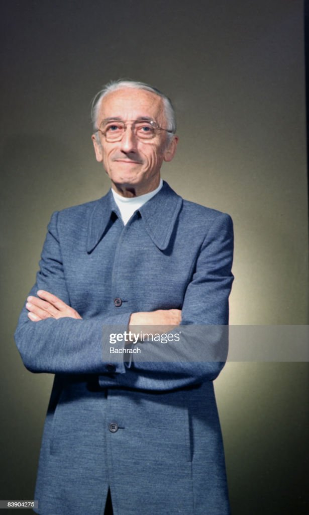 Portrait of noted undersea explorer Jacques Cousteau (1910 - 1997). In a major contribution to marine exploration, he co-invented the scuba system in 1943. Photo taken in Boston, 1978.