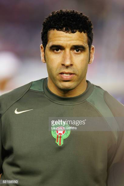 A portrait of Noureddine Naybet of Morocco prior to the World Cup Qualifying match between Morocco and Malawi at the Prince Moulay Abdellah Stadium...