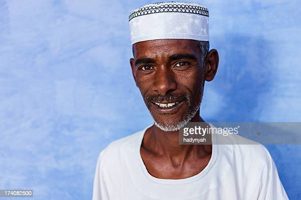 Portrait of Nubian man in Southern Egypt