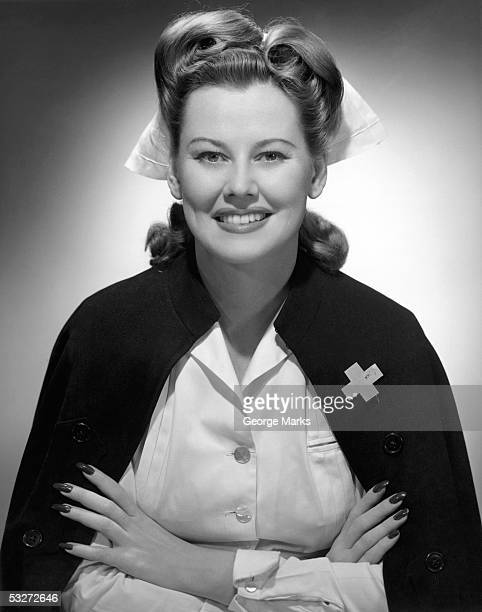 portrait of nurse smiling - hot nurse stock photos and pictures