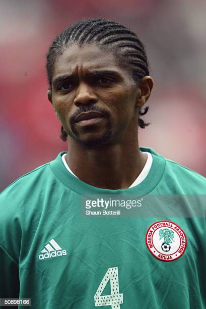 Portrait of Nwankwo Kanu of Nigeria taken prior to the African Nations Cup 2004 SemiFinal match between Tunisia and Nigeria held at the Olympic...