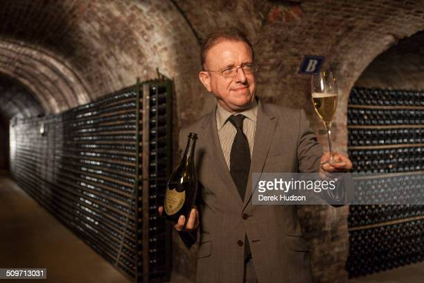 Portrait of oenologist Richard Geoffroy in the Dom Perignon cellars of the Moet & Chandon winery, Reims, France, October 2010.