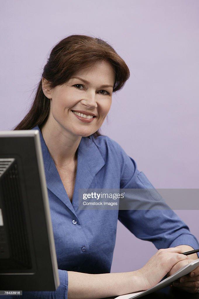 Portrait of office worker : Stockfoto