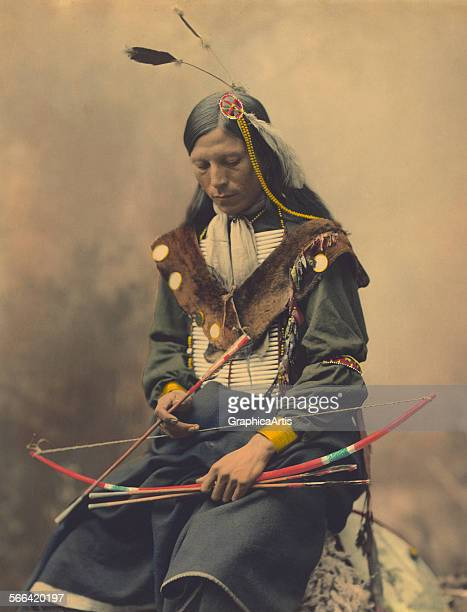 Portrait of Oglala Sioux Council Chief Bone Necklace; hand-colored platinum print, 1899. Taken by the Heyn photographic studio in Omaha, Nebraska.
