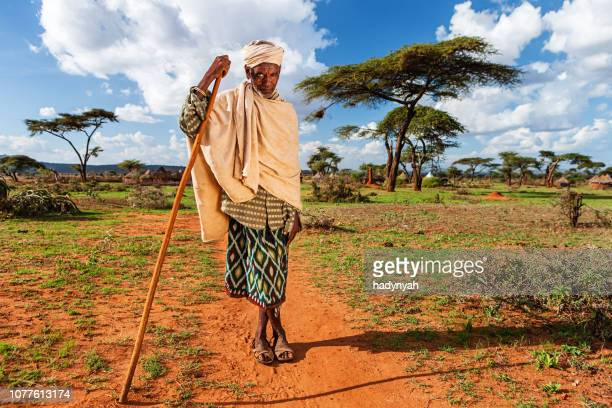 portrait of old man from borana tribe, ethiopia, africa - ethiopia stock pictures, royalty-free photos & images