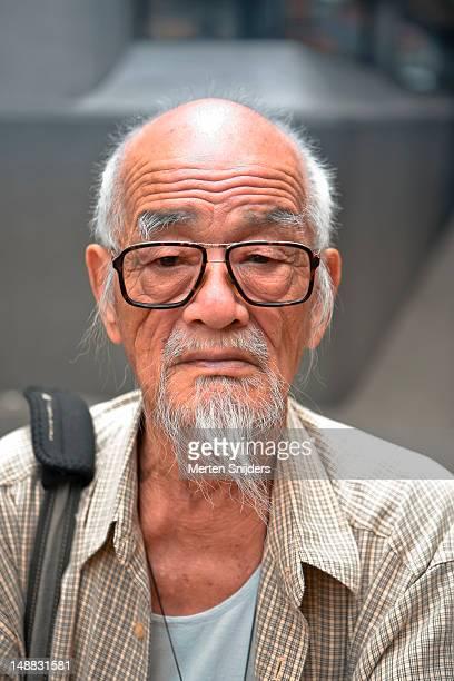portrait of old man with glasses. - merten snijders imagens e fotografias de stock