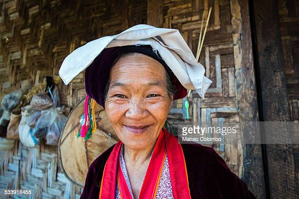 Portrait of old woman from the Shan tribe, Myanmar