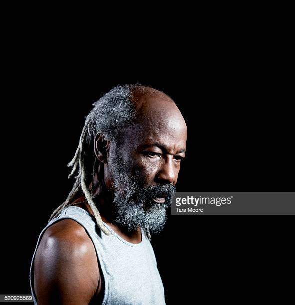 portrait of older black man - sleeveless stock pictures, royalty-free photos & images