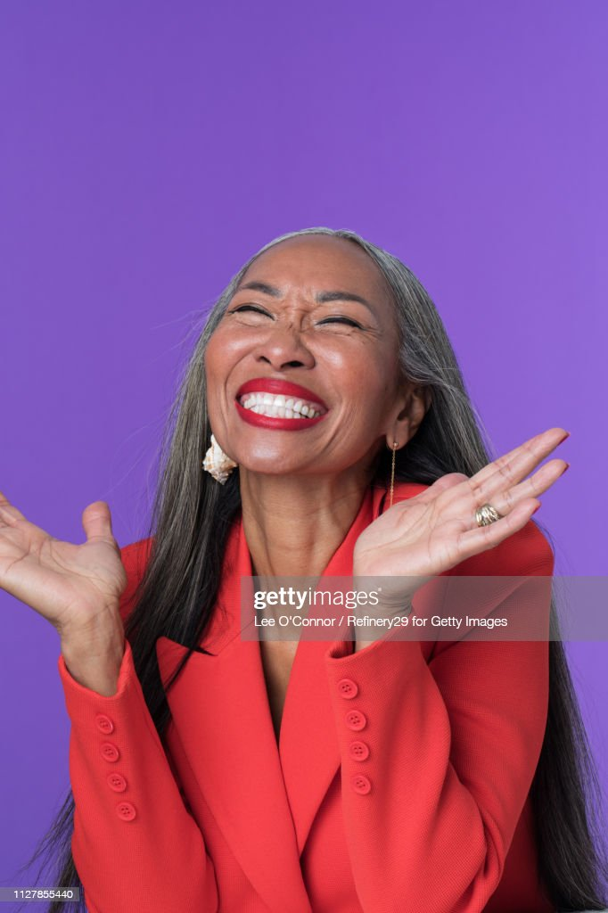 Portrait of Older Confident Woman Laughing : Stock Photo
