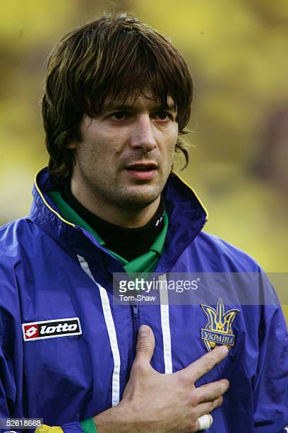 A portrait of Oleksandr Shovkovskyi of Ukraine prior to the World Cup qualifying match between Ukraine and Denmark held at the Olympic Stadium in...