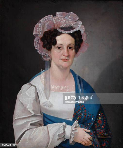 Portrait of Olga Matveevna Golovina née Dashkova 1828 Found in the collection of State Museum of AS Pushkin Moscow Artist Mylnikov Nikolai Dmitrievich