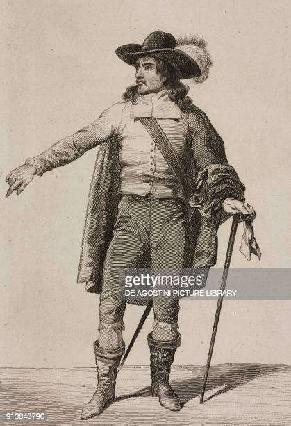 Portrait of Oliver Cromwell English military leader and politician engraving by Lemaitre from Angleterre volume III by Leon Galibert and Clement...