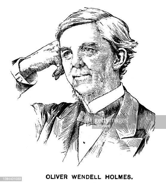 portrait of oliver wendell holmes jr., american jurist - campaigner stock pictures, royalty-free photos & images