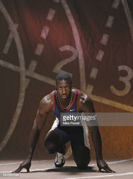 A portrait of Olympic and IAAF World Championship Gold medal wiinning 200 metres and 400 metres sprinter Michael Johnson of the United States on 22...
