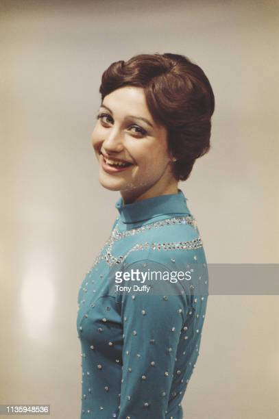 Portrait of Olympic figure skater Dianne de Leeuw of the Netherlands before the ISU World Figure Skating Championships on 1 March 1975 in Colorado...