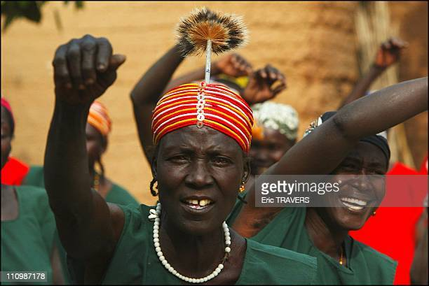 Portrait of one of the wives of the Village of Oudjilla chief during the traditional dance in Oudjilla, Cameroon on December 27, 2003.