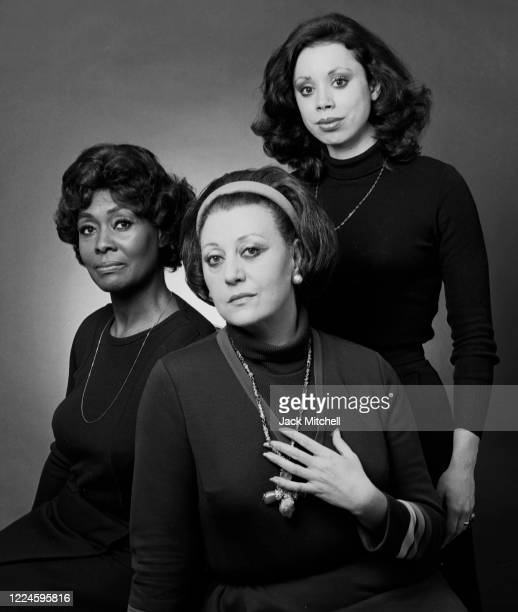 Portrait of Opera singers Shirley Verrett Regine Crespin and Maria Ewing from a production of 'Dialogues of the Carmelites' January 1977