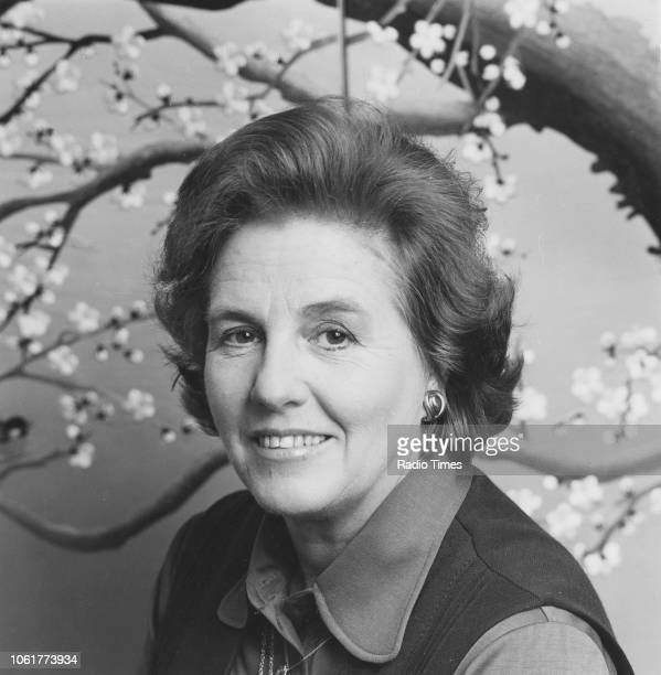 Portrait of operatic soprano singer Heather Harper April 1982