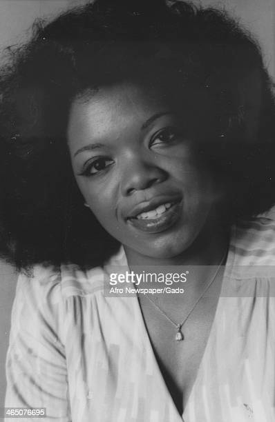 Portrait of Oprah Winfrey upon becoming co anchor of Eyewitness News on WJZ, with co host Jerry Turner, Baltimore, Maryland, June 26, 1978.