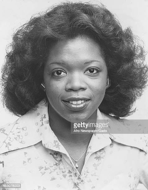 A portrait of Oprah Winfrey upon becoming co anchor of Eyewitness News on WJZ with co host Jerry Turner Baltimore Maryland June 26 1978