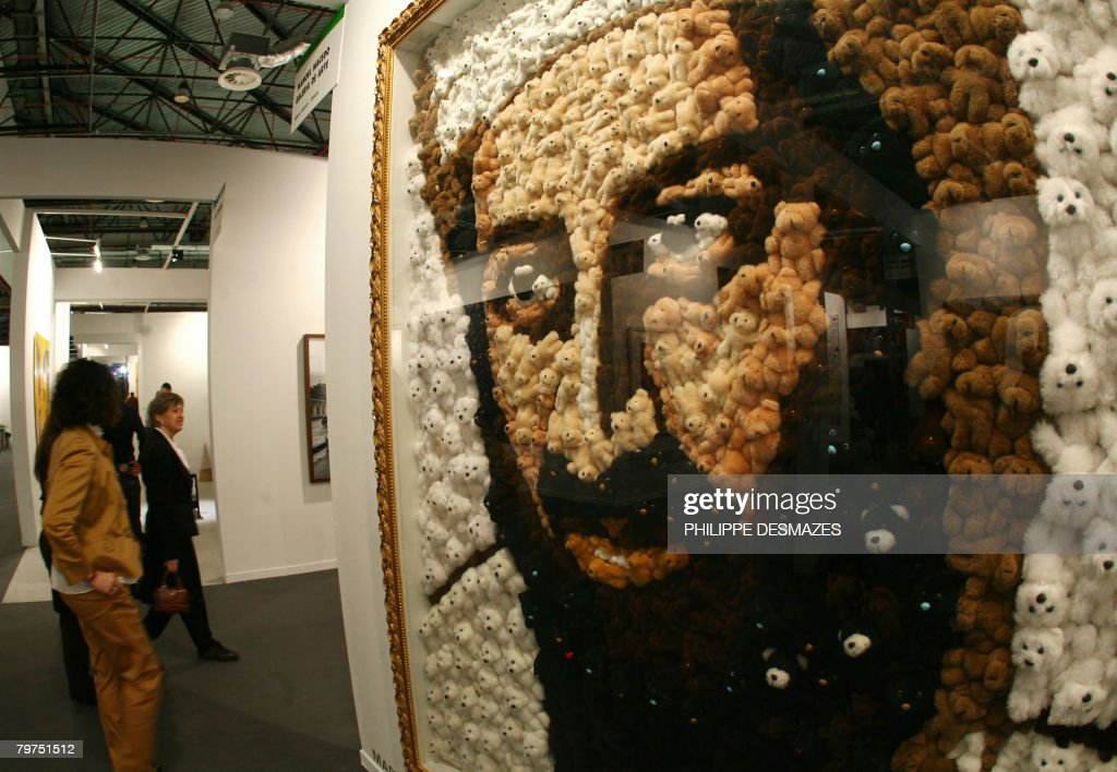 Teddy Laden a portrait of osama bin laden made out o pictures getty images