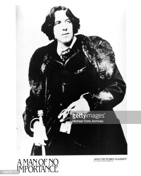 A portrait of Oscar Wilde a publicity still from the film 'A Man Of No Importance' 1994