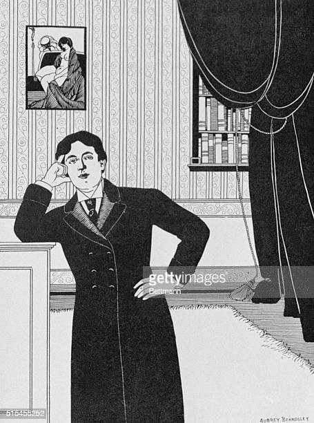 Portrait of Oscar Wilde in frock coat after Aubrey Beardsley