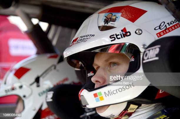 Portrait of Ott Tanak of Estonia taken during the service park after the shakedown of the WRC MonteCarlo on January 24 2019 in MonteCarlo Monaco