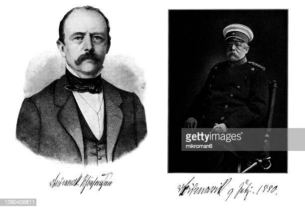 portrait of otto eduard leopold von bismarck, chancellor of the german empire - prime minister stock pictures, royalty-free photos & images